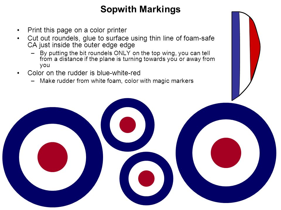 Sopwith Markings Print this page on a color printer