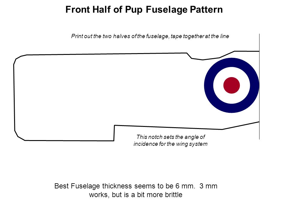 Front Half of Pup Fuselage Pattern