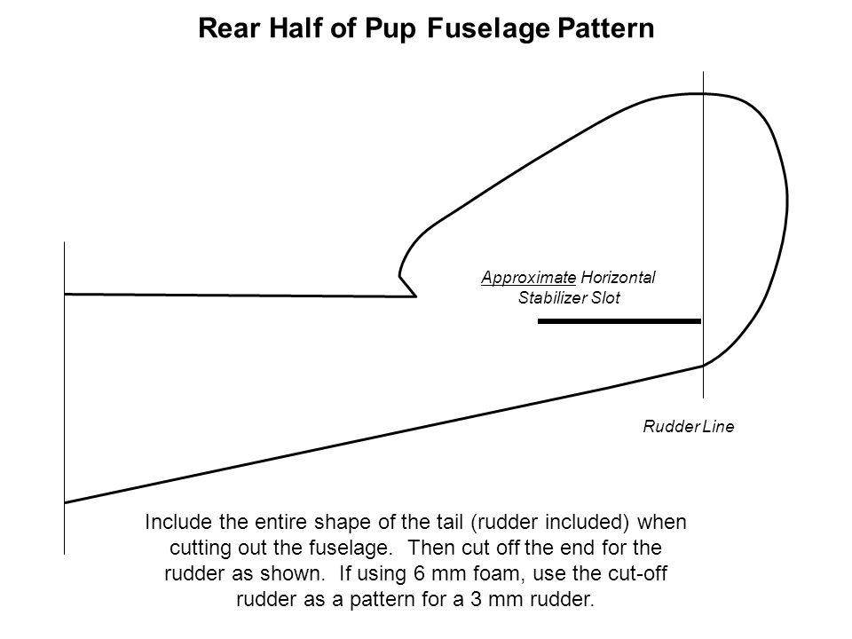 Rear Half of Pup Fuselage Pattern