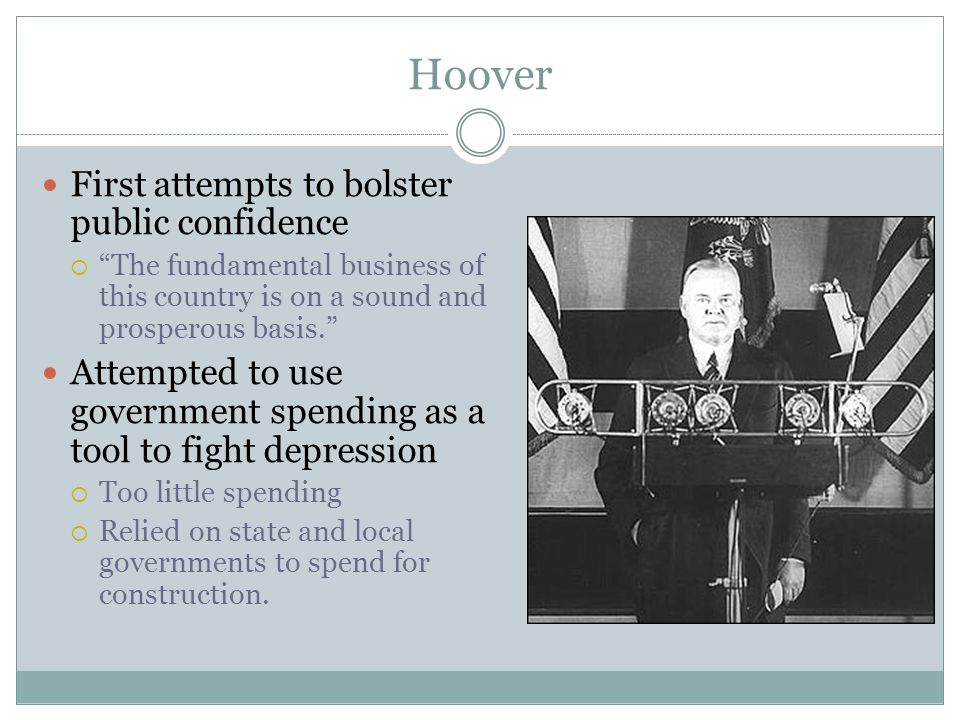 Hoover First attempts to bolster public confidence