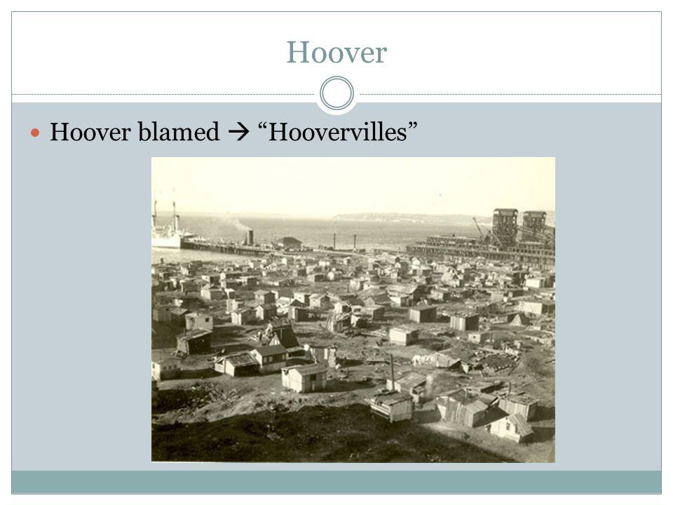Hoover Hoover blamed  Hoovervilles