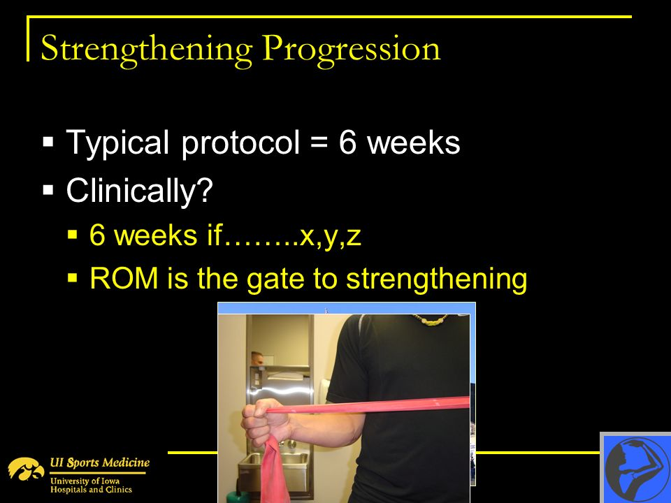 Strengthening Progression