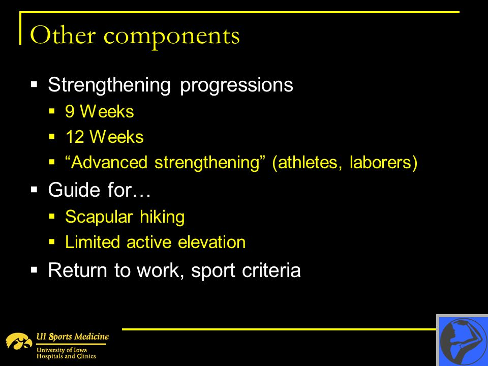 Other components Strengthening progressions Guide for…