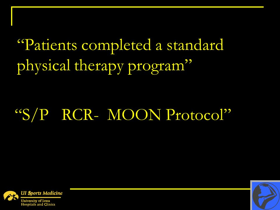 Patients completed a standard physical therapy program