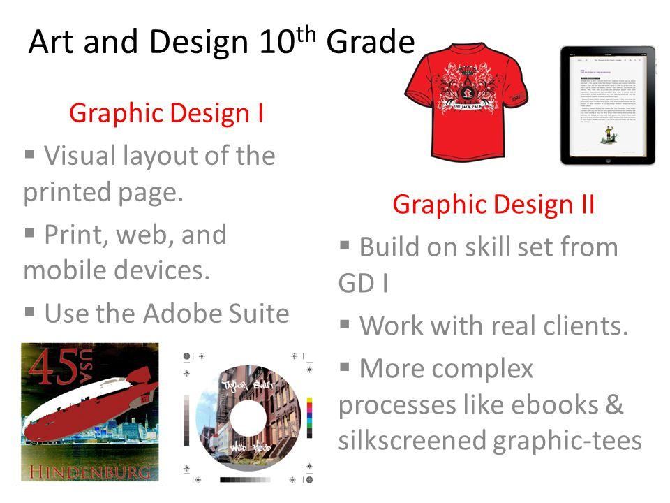 Art and Design 10th Grade Graphic Design I