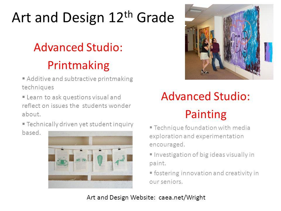 Art and Design 12th Grade Advanced Studio: Printmaking