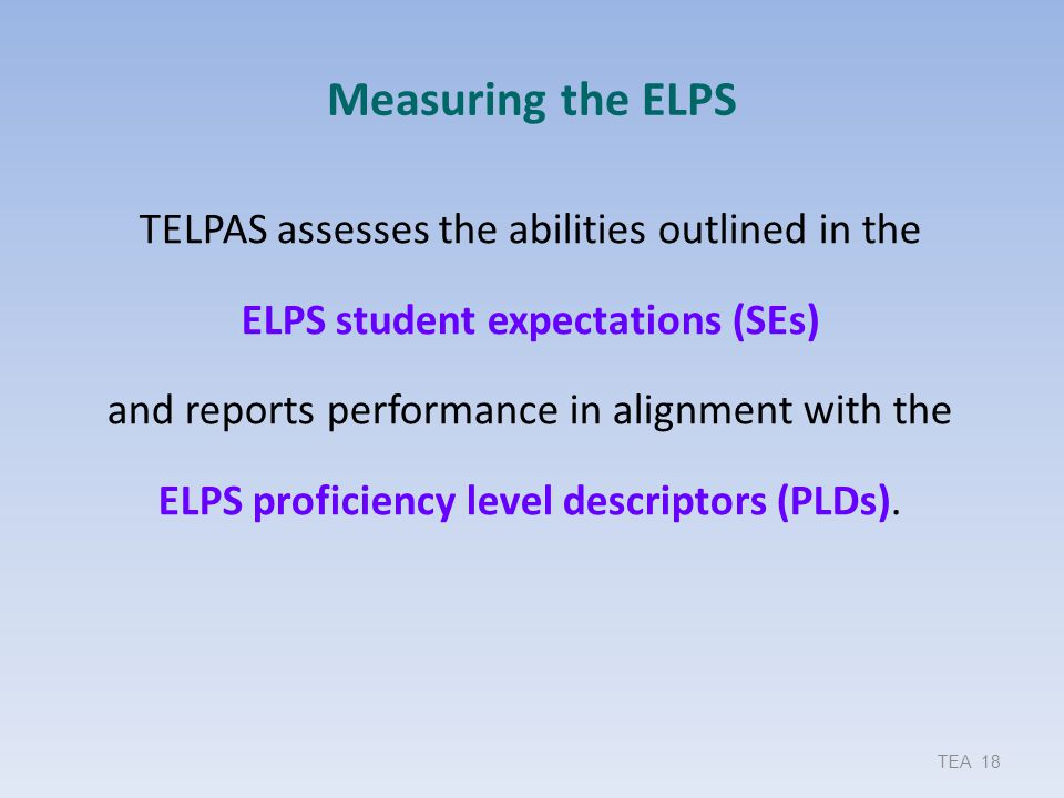 Measuring the ELPS