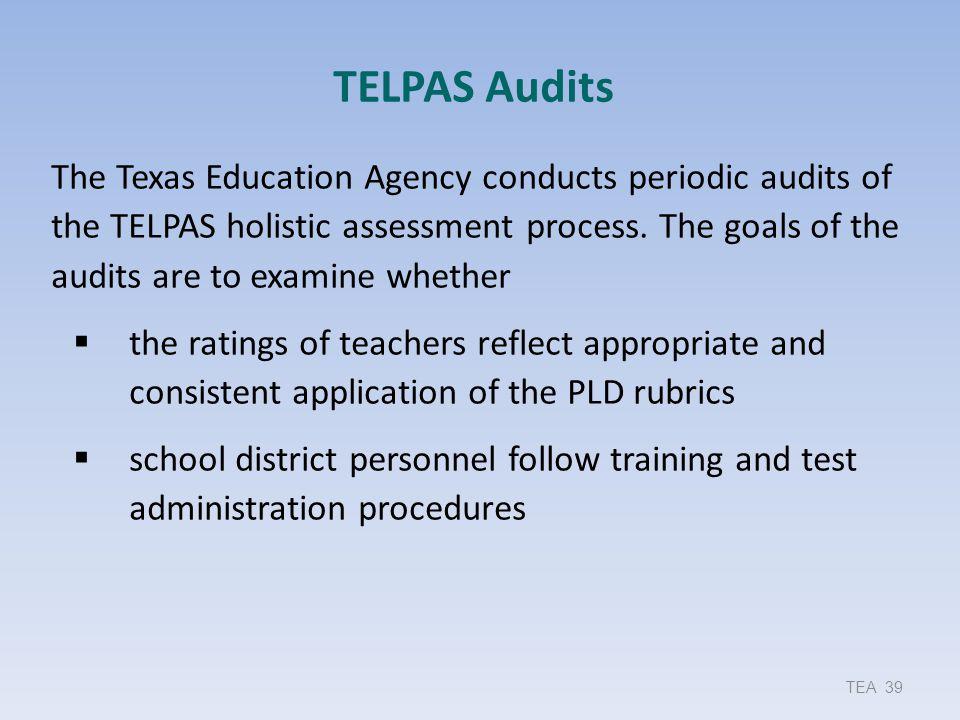TELPAS Audits