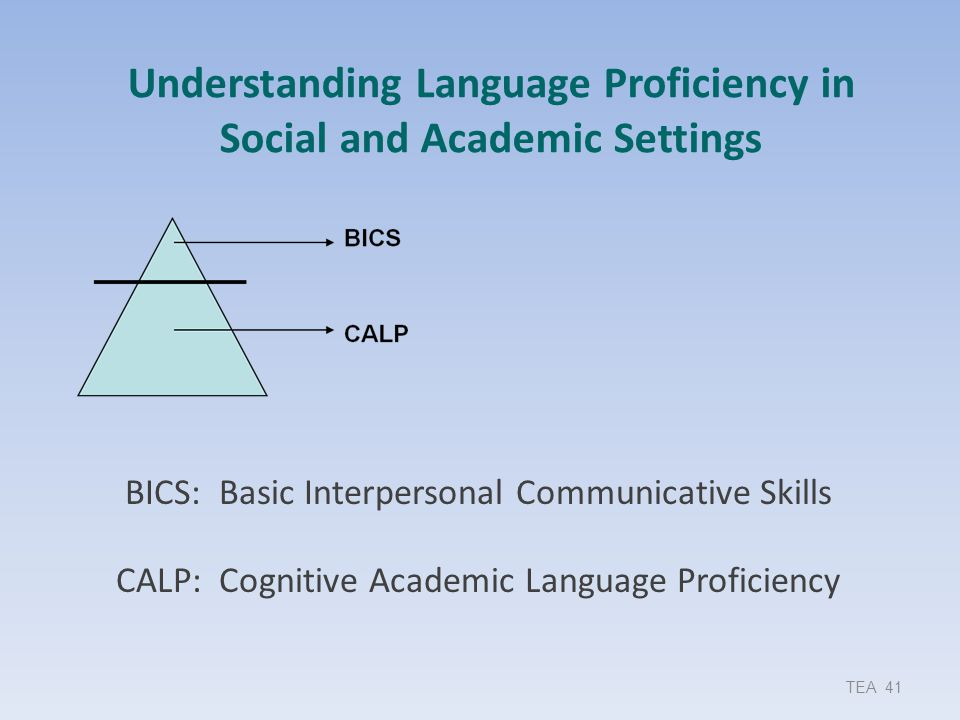 Understanding Language Proficiency in Social and Academic Settings
