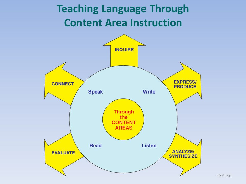 Teaching Language Through Content Area Instruction