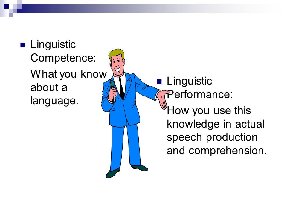Linguistic Competence: