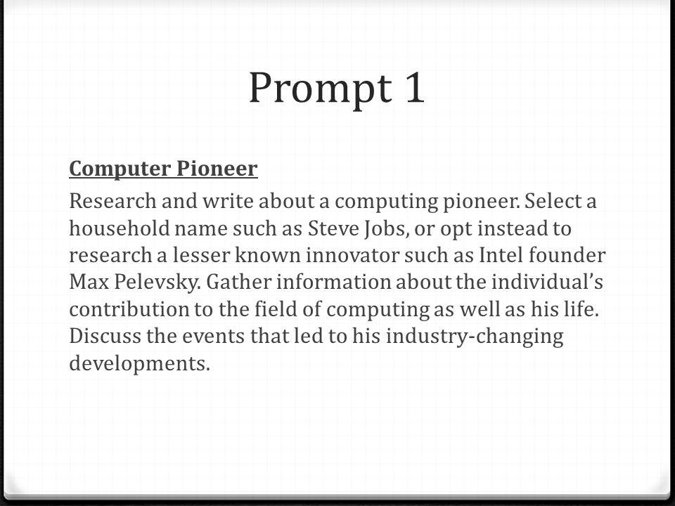 Prompt 1 Computer Pioneer