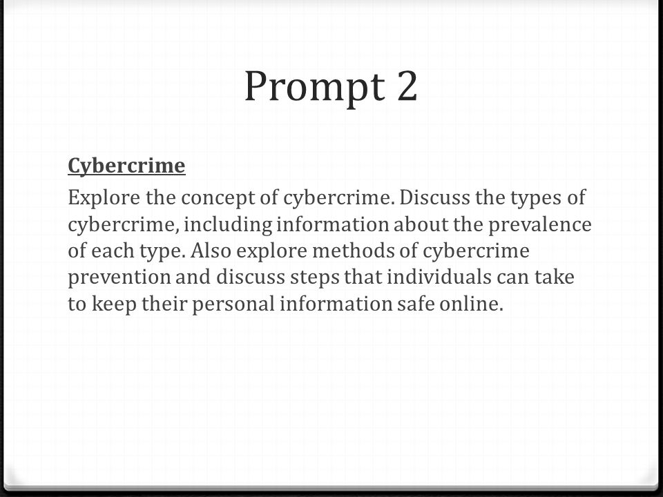 Prompt 2 Cybercrime.
