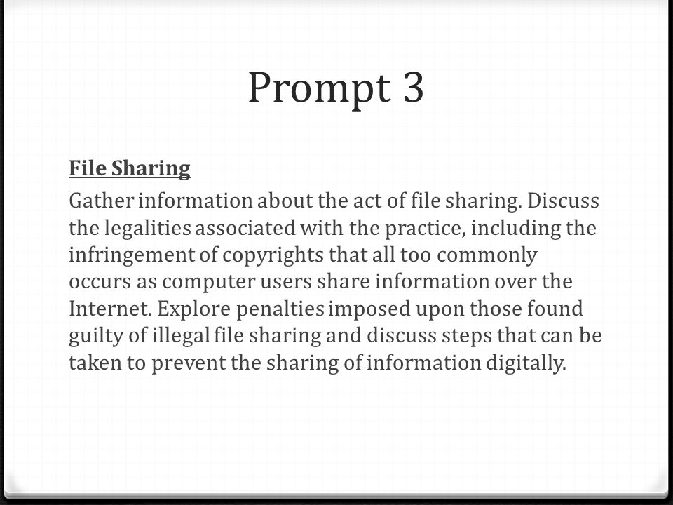 Prompt 3 File Sharing.