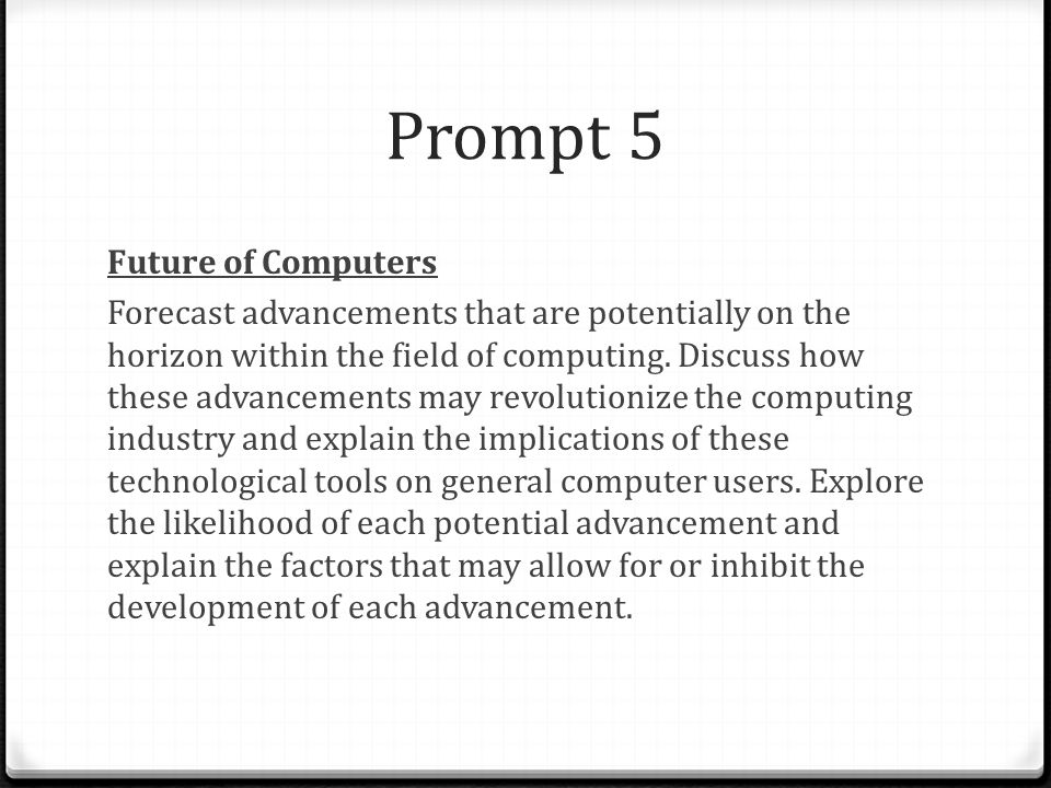 Prompt 5 Future of Computers