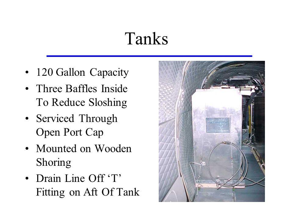 Tanks 120 Gallon Capacity Three Baffles Inside To Reduce Sloshing
