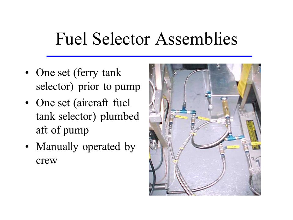 Fuel Selector Assemblies