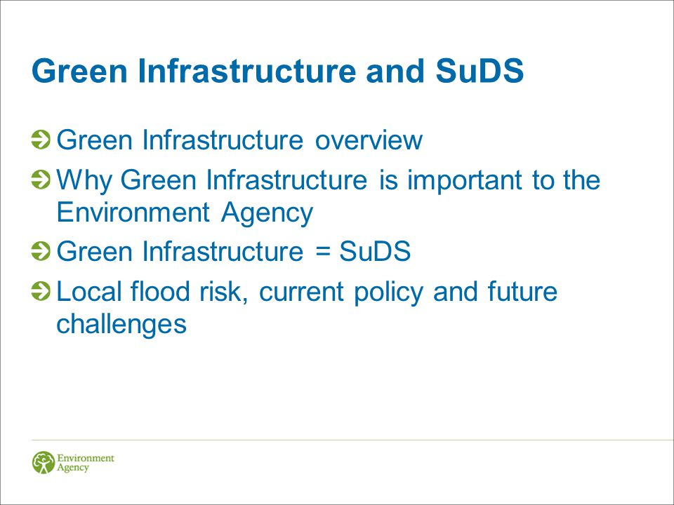 Green Infrastructure and SuDS