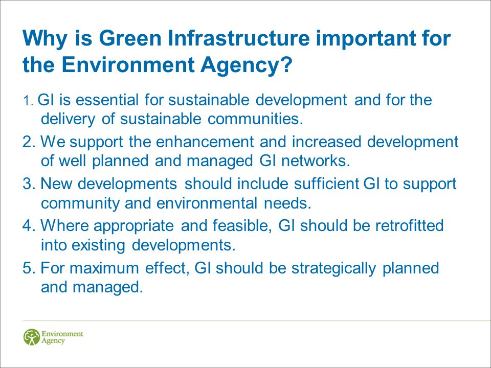 Why is Green Infrastructure important for the Environment Agency