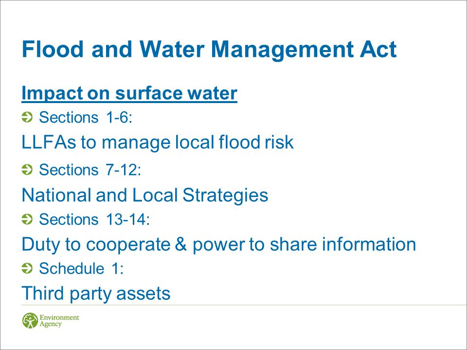 Flood and Water Management Act