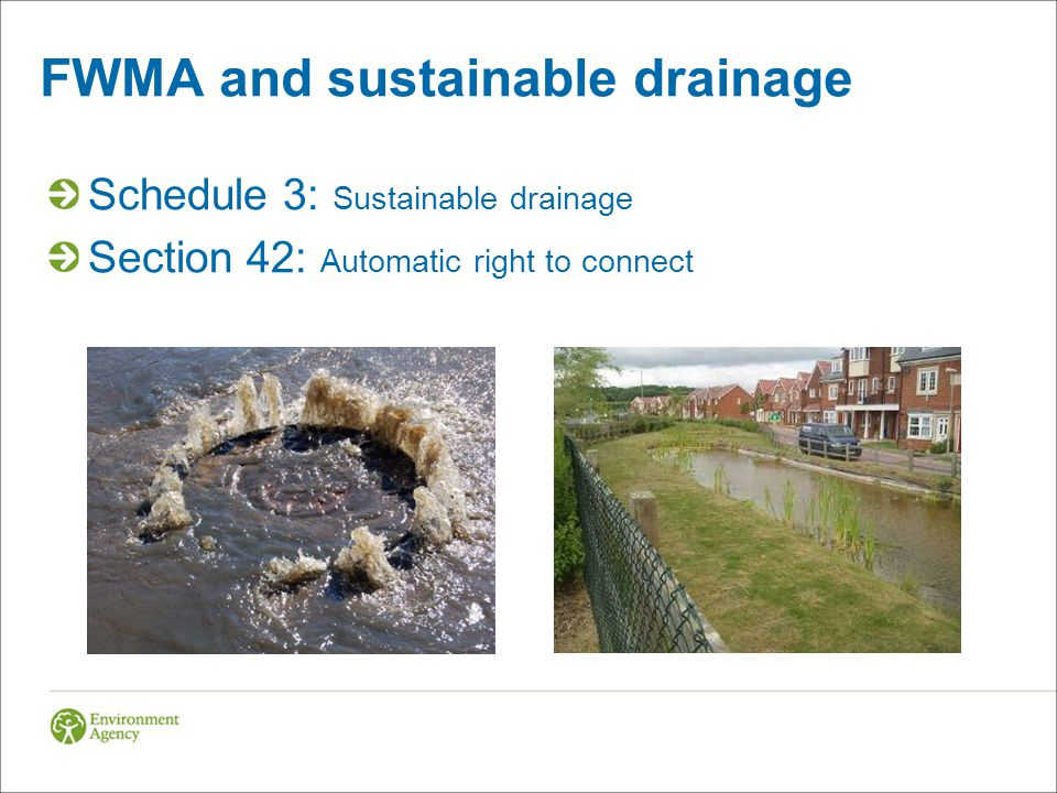 FWMA and sustainable drainage