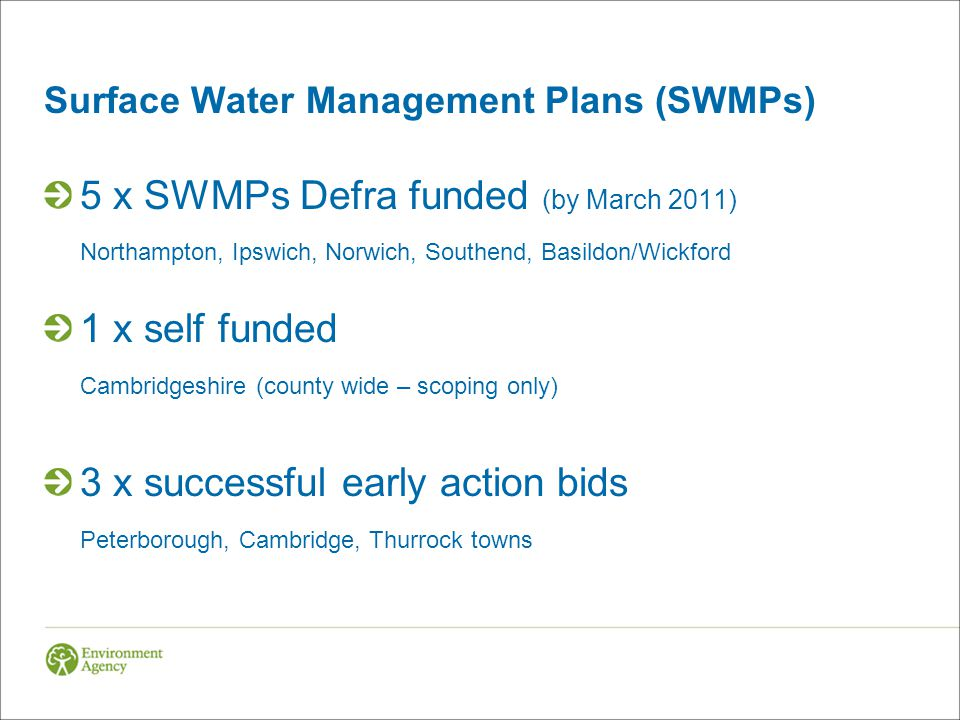 Surface Water Management Plans (SWMPs)