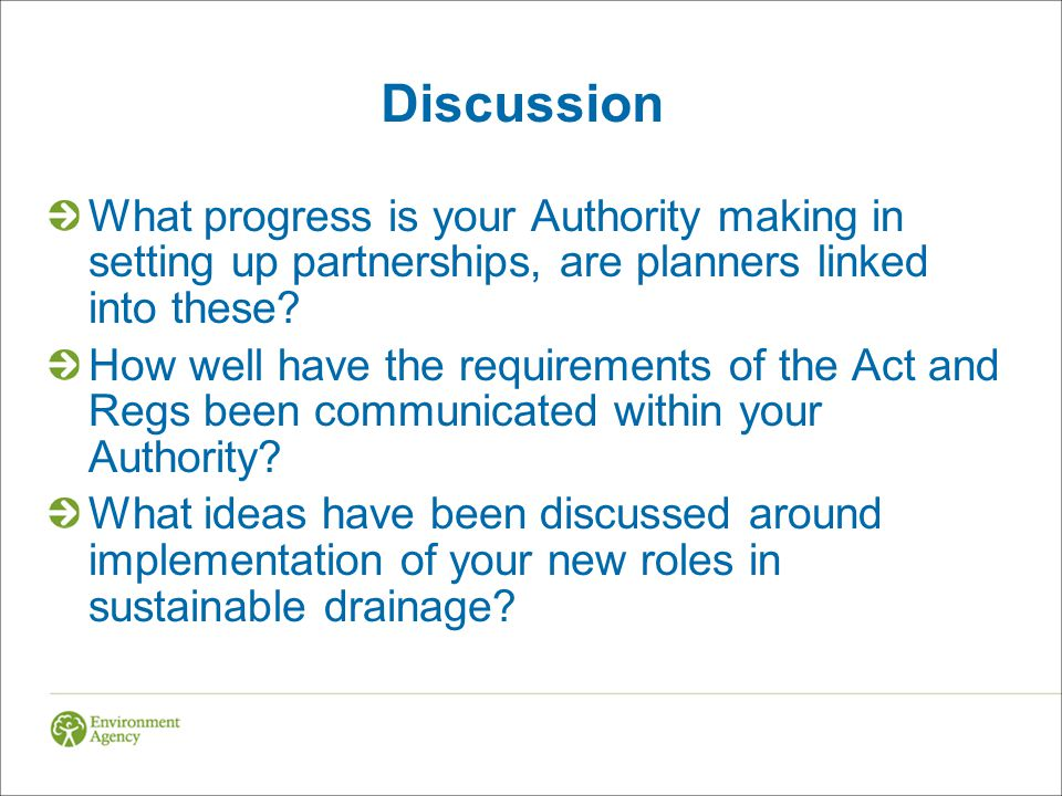 Discussion What progress is your Authority making in setting up partnerships, are planners linked into these