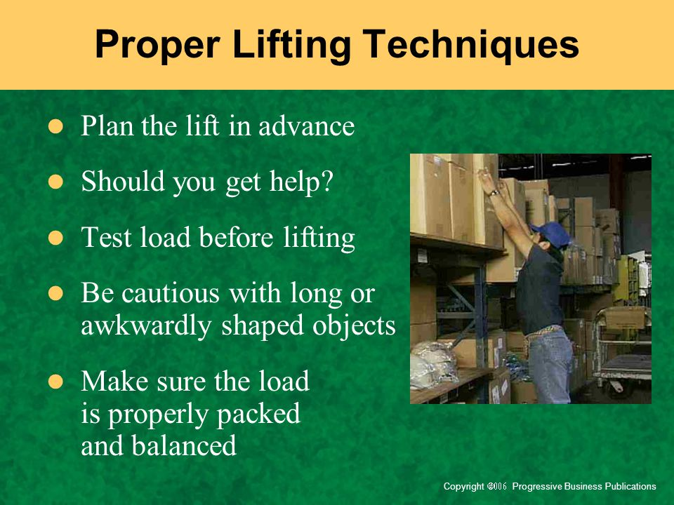 Proper Lifting Techniques