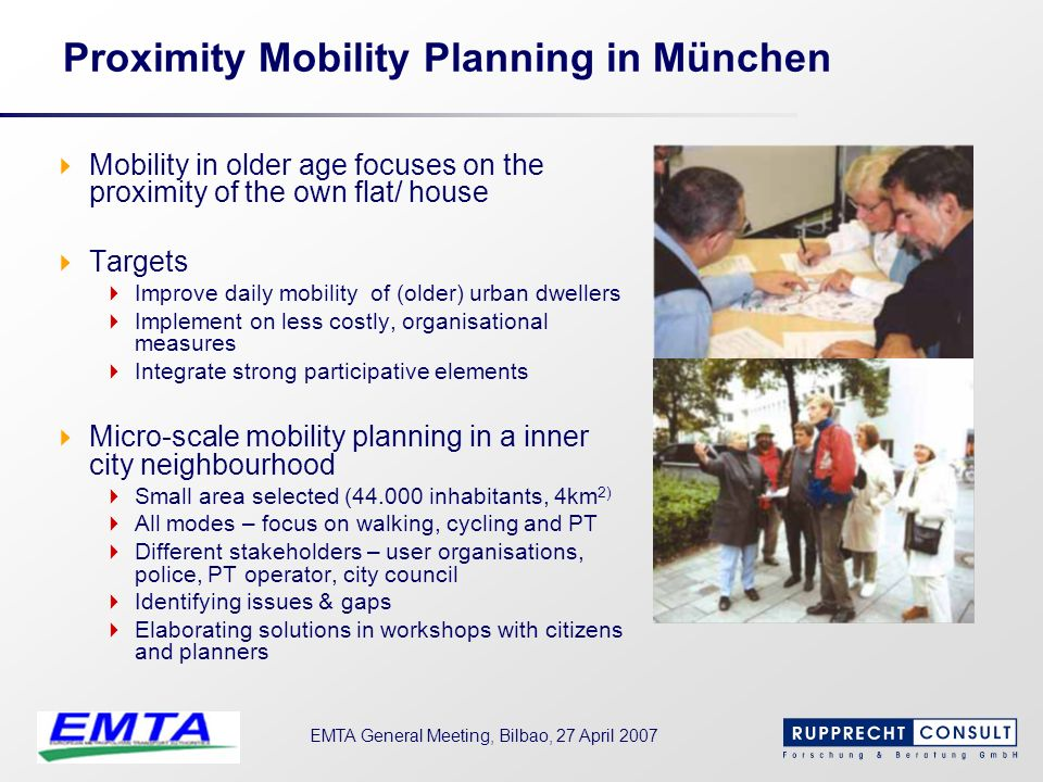 Proximity Mobility Planning in München