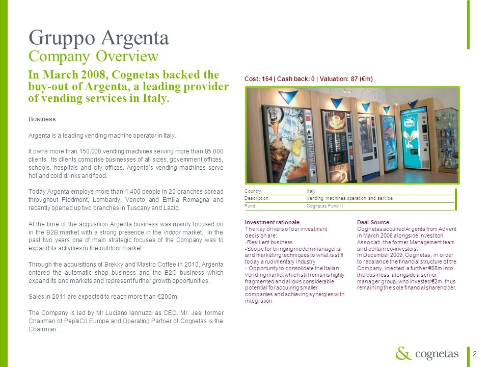 Gruppo Argenta Company Overview