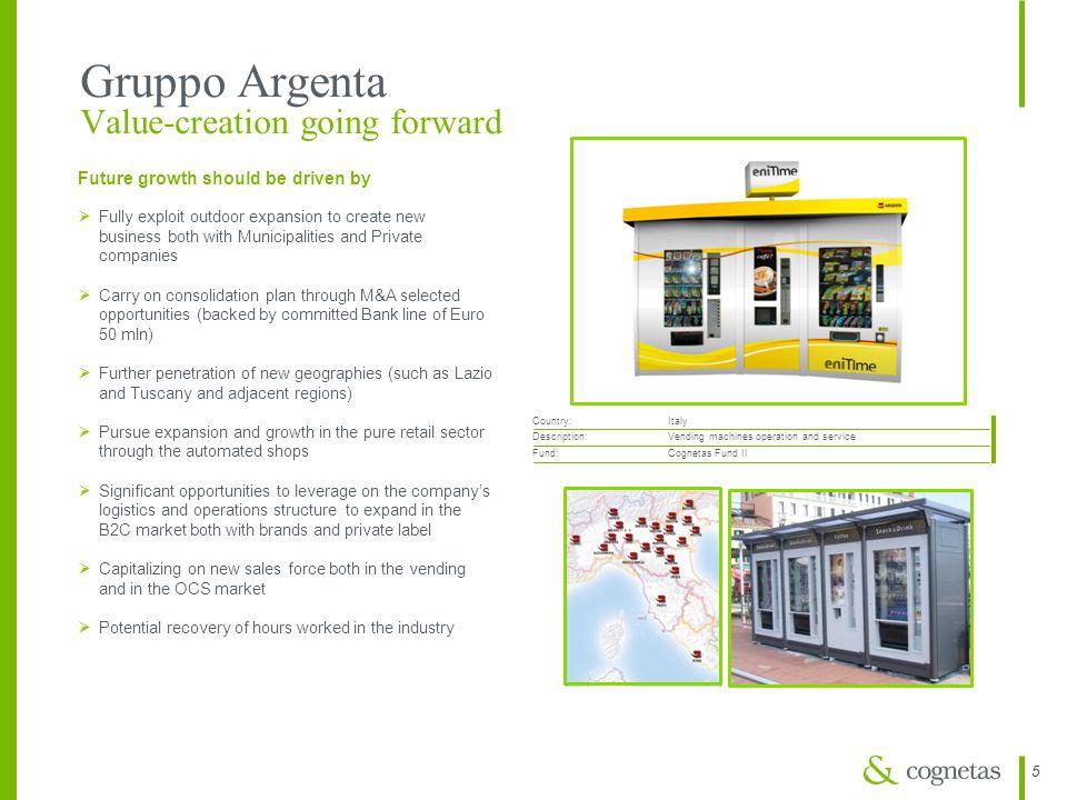 Gruppo Argenta Value-creation going forward