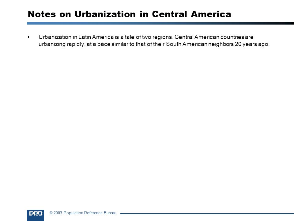 Notes on Urbanization in Central America