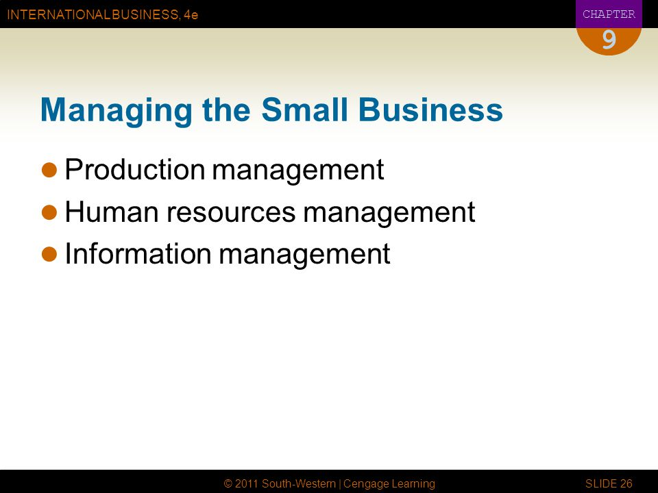 Managing the Small Business