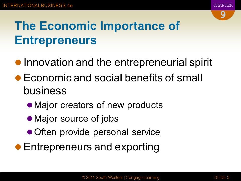 The Economic Importance of Entrepreneurs