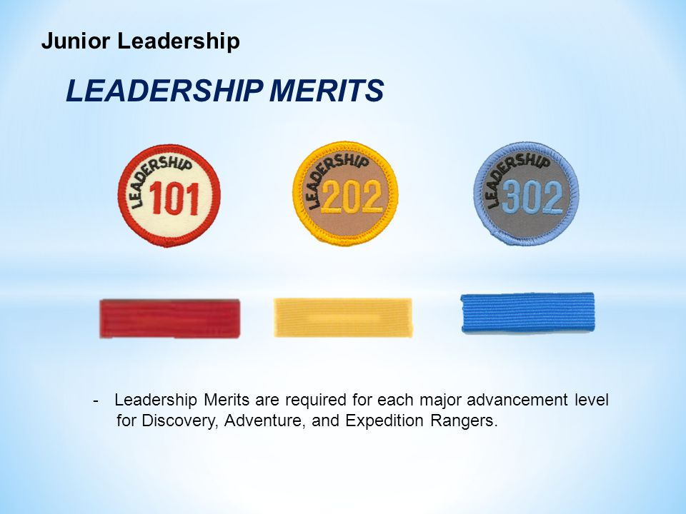 LEADERSHIP MERITS Junior Leadership