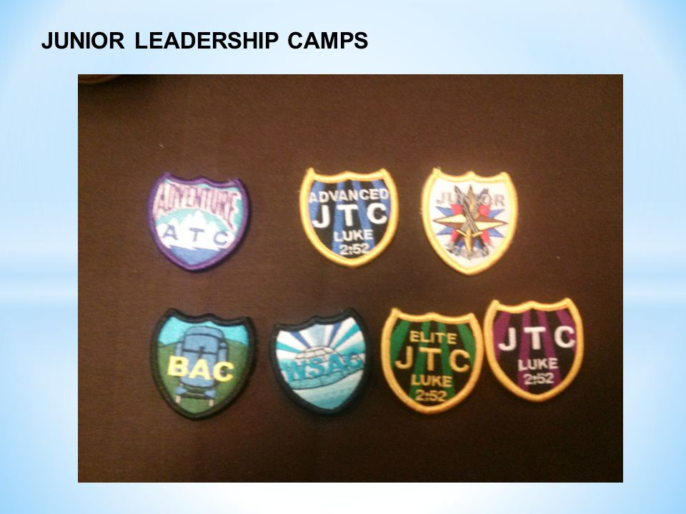 JUNIOR LEADERSHIP CAMPS