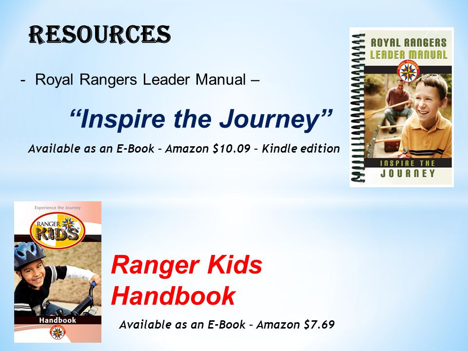 RESOURCES Ranger Kids Handbook Royal Rangers Leader Manual –