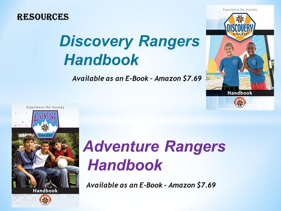 RESOURCES Discovery Rangers Handbook Adventure Rangers Handbook