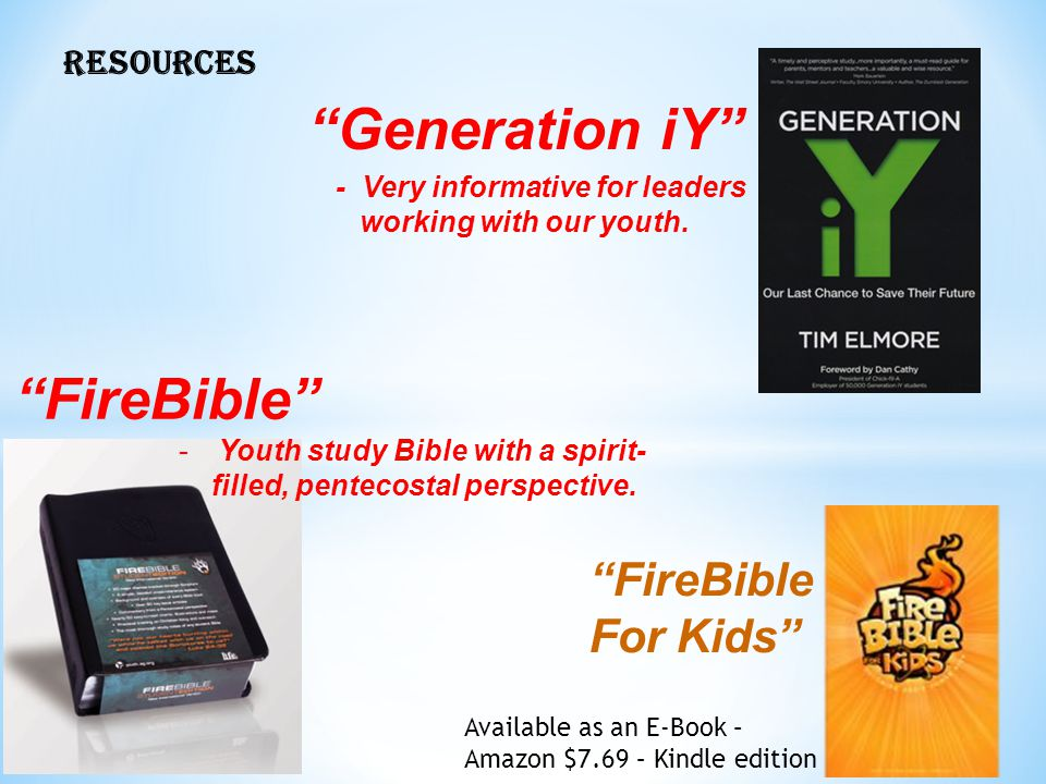 Generation iY FireBible FireBible For Kids RESOURCES