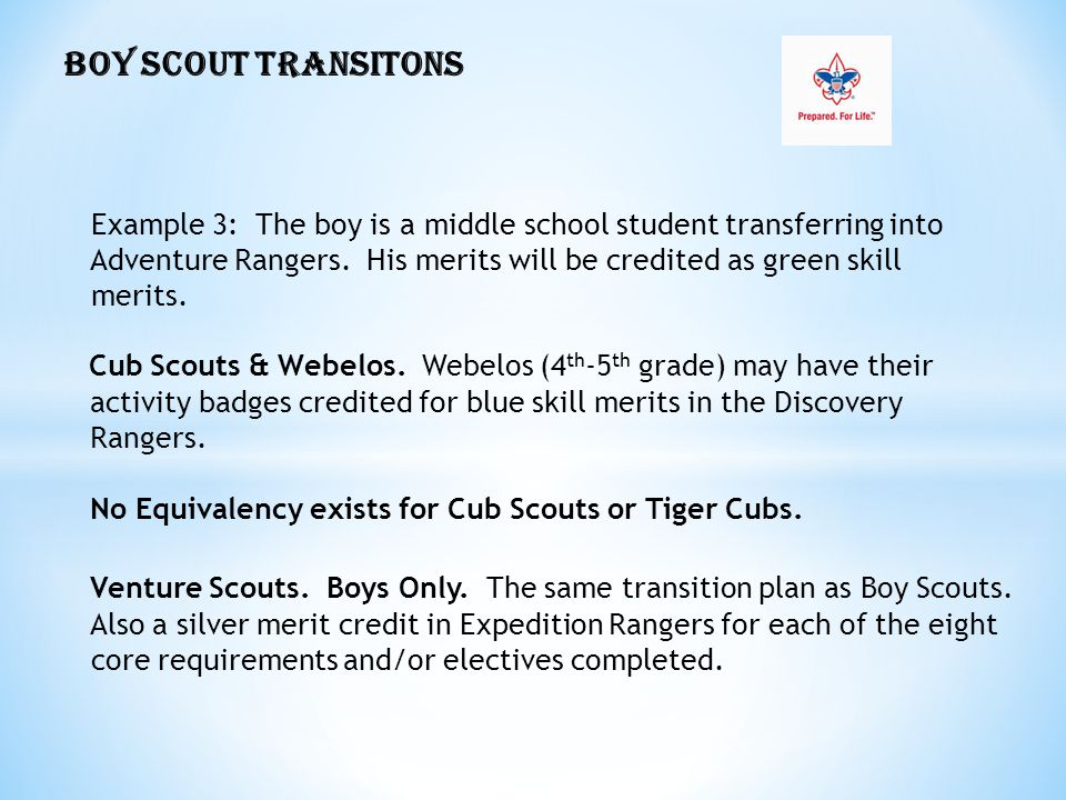 Cub Scouts & Webelos. Webelos (4th-5th grade) may have their