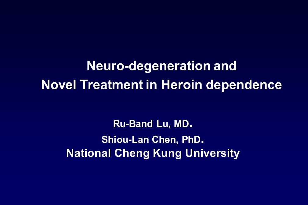 Ru-Band Lu, MD. Shiou-Lan Chen, PhD. National Cheng Kung University