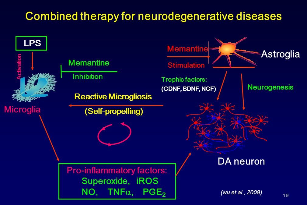Combined therapy for neurodegenerative diseases