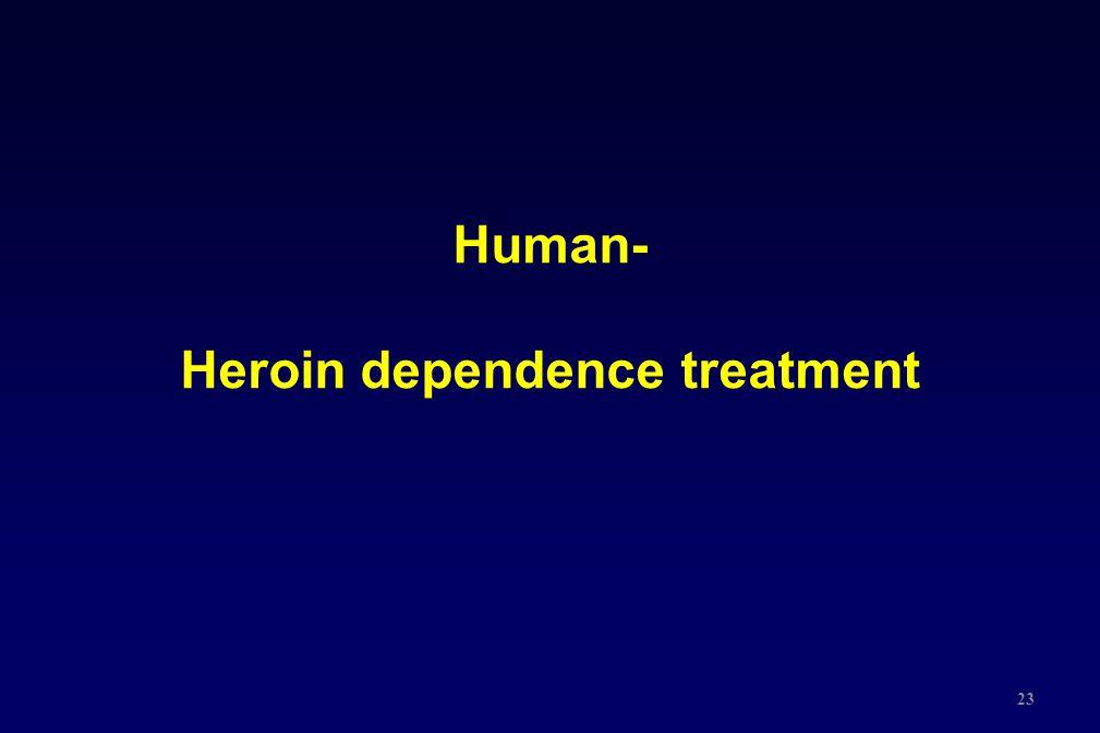 Human- Heroin dependence treatment