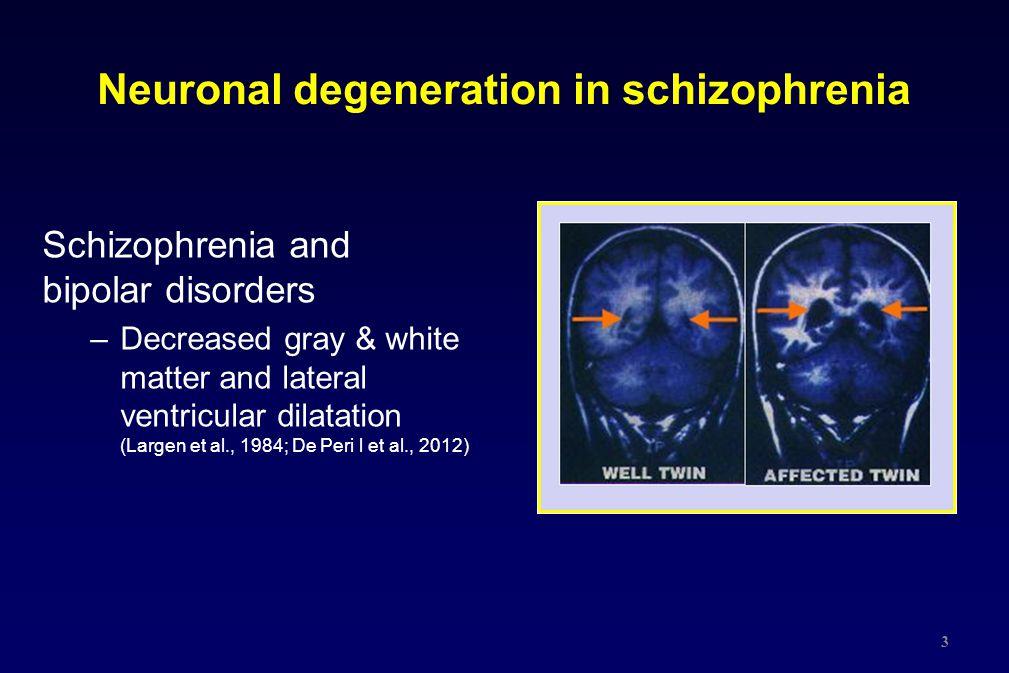 Neuronal degeneration in schizophrenia