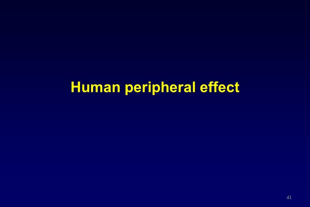 Human peripheral effect