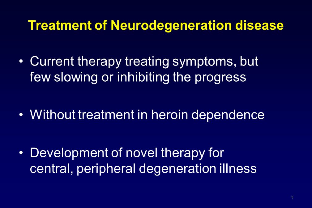 Treatment of Neurodegeneration disease