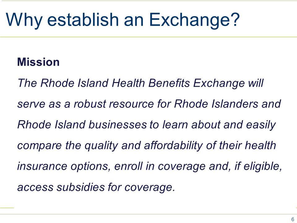 Why establish an Exchange