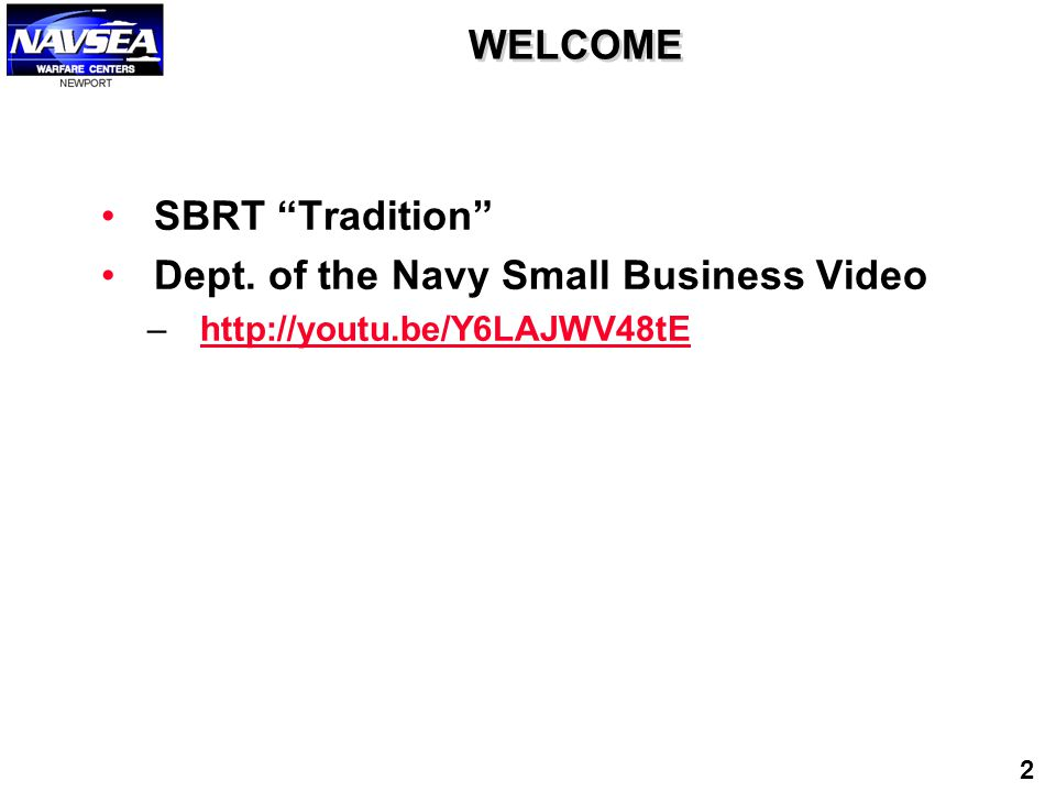 Dept. of the Navy Small Business Video