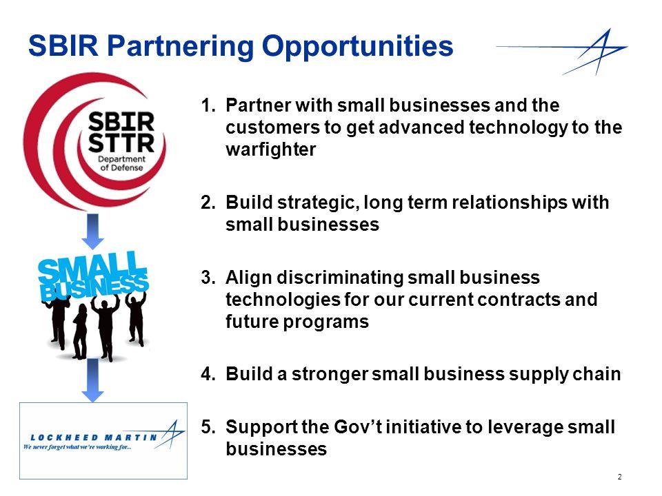 SBIR Partnering Opportunities