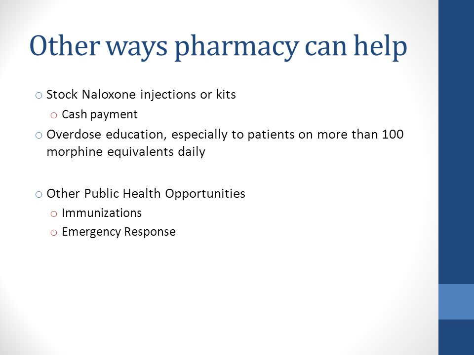 Other ways pharmacy can help
